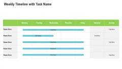 Sales Department Strategies Increase Revenues Weekly Timeline With Task Name Ideas PDF