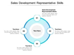 Sales Development Representative Skills Ppt PowerPoint Presentation Inspiration Introduction Cpb
