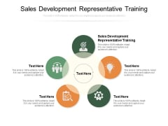 Sales Development Representative Training Ppt PowerPoint Presentation Model Portfolio Cpb