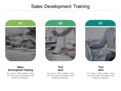 Sales Development Training Ppt PowerPoint Presentation Outline Grid Cpb