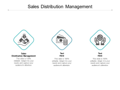 Sales Distribution Management Ppt PowerPoint Presentation Visual Aids Diagrams Cpb