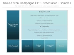 Sales Driven Campaigns Ppt Presentation Examples