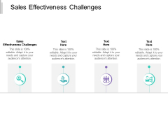 Sales Effectiveness Challenges Ppt PowerPoint Presentation Infographics File Formats Cpb