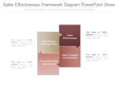 Sales Effectiveness Framework Diagram Powerpoint Show
