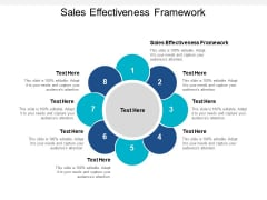 Sales Effectiveness Framework Ppt PowerPoint Presentation Professional Introduction Cpb