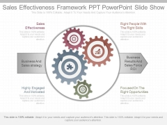 Sales Effectiveness Framework Ppt Powerpoint Slide Show