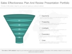 Sales Effectiveness Plan And Review Presentation Portfolio