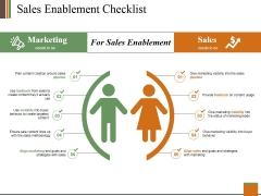 Sales Enablement Checklist Ppt PowerPoint Presentation Ideas Icon