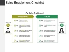 Sales Enablement Checklist Template 1 Ppt PowerPoint Presentation Slides Portfolio