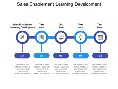 Sales Enablement Learning Development Ppt PowerPoint Presentation Layouts Examples Cpb Pdf