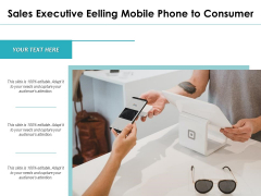 Sales Executive Selling Mobile Phone To Consumer Ppt PowerPoint Presentation File Good PDF