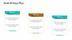 Sales Facilitation Partner Management 30 60 90 Days Plan Portrait PDF