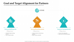 Sales Facilitation Partner Management Goal And Target Alignment For Partners Structure PDF