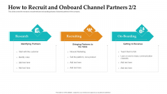 Sales Facilitation Partner Management How To Recruit And Onboard Channel Partners Roles Themes PDF