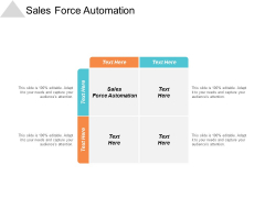 Sales Force Automation Ppt PowerPoint Presentation Infographics Graphics Pictures Cpb