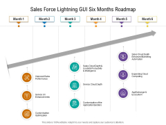 Sales Force Lightning GUI Six Months Roadmap Slides