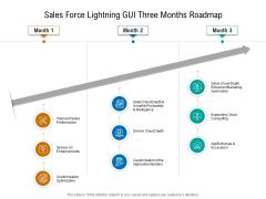 Sales Force Lightning GUI Three Months Roadmap Information