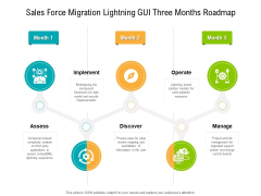 Sales Force Migration Lightning GUI Three Months Roadmap Infographics