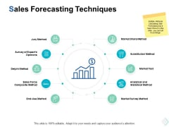 sales forecasting techniques ppt powerpoint presentation summary visuals