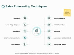 Sales Forecasting Techniques Substitution Method Ppt PowerPoint Presentation Inspiration Ideas