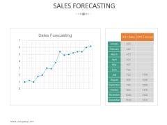 Sales Forecasting Template 2 Ppt PowerPoint Presentation Infographic Template Themes
