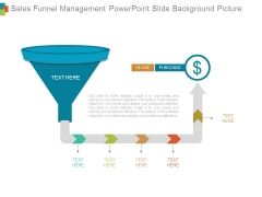 Sales Funnel Management Powerpoint Slide Background Picture