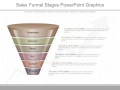 Sales Funnel Stages Powerpoint Graphics