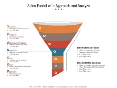 Sales Funnel With Approach And Analyze Ppt PowerPoint Presentation Gallery File Formats PDF