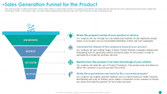 Sales Generation Funnel For The Product Ppt Infographic Template Influencers PDF