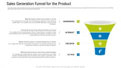 Sales Generation Funnel For The Product Ppt Show Mockup PDF