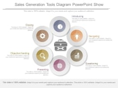 Sales Generation Tools Diagram Powerpoint Show