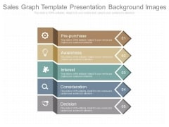 Sales Graph Template Presentation Background Images