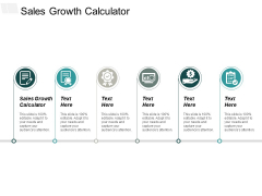Sales Growth Calculator Ppt PowerPoint Presentation Outline Ideas Cpb