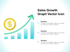 Sales Growth Graph Vector Icon Ppt PowerPoint Presentation Ideas Information