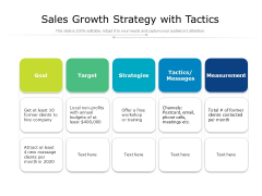 Sales Growth Strategy With Tactics Ppt PowerPoint Presentation File Topics PDF