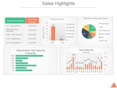 Sales Highlights Ppt PowerPoint Presentation Deck