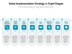 Sales Implementation Strategy In Eight Stages Ppt PowerPoint Presentation Gallery Rules PDF