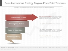 Sales Improvement Strategy Diagram Powerpoint Templates