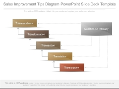 Sales Improvement Tips Diagram Powerpoint Slide Deck Template