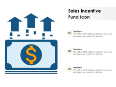 Sales Incentive Fund Icon Ppt PowerPoint Presentation Summary Example PDF