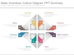 Sales Incentives Culture Diagram Ppt Summary