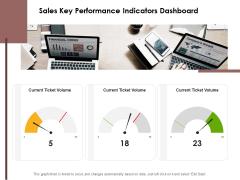Sales Key Performance Indicators Dashboard Ppt PowerPoint Presentation Icon PDF