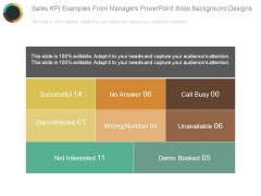 Sales Kpi Examples From Managers Powerpoint Slide Background Designs