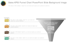 Sales Kpis Funnel Chart Powerpoint Slide Background Image