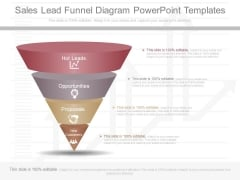 Sales Lead Funnel Diagram Powerpoint Templates
