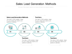 Sales Lead Generation Methods Ppt PowerPoint Presentation Gallery Summary Cpb