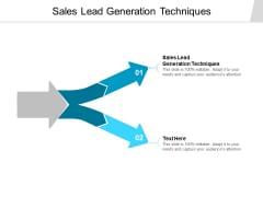Sales Lead Generation Techniques Ppt PowerPoint Presentation Layouts Portfolio Cpb