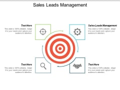 Sales Leads Management Ppt PowerPoint Presentation Outline Files Cpb
