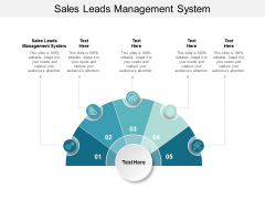 Sales Leads Management System Ppt PowerPoint Presentation Inspiration Designs Cpb