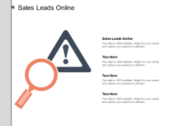 Sales Leads Online Ppt Powerpoint Presentation Styles Graphics Download Cpb